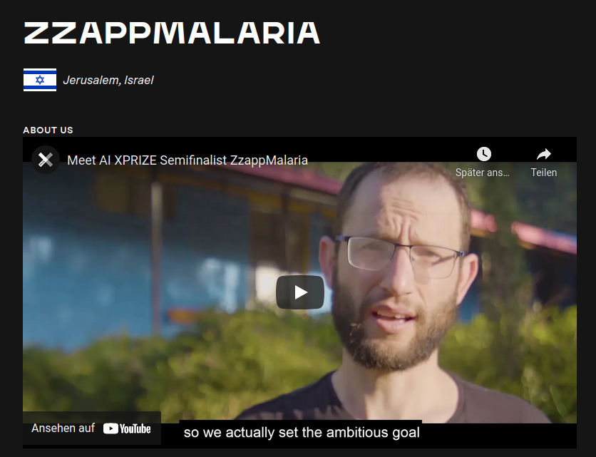 Zzapp Malaria Wins IBM Watson AI XPIZE